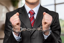 Person arrested for a white collar crime